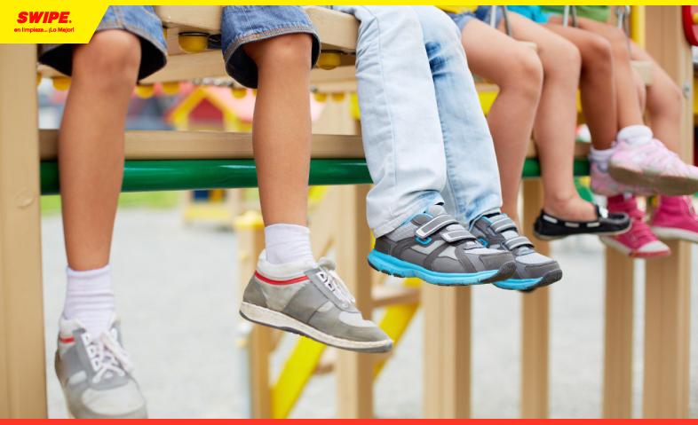 Desinfecta los zapatos de tus pequeños con Swipol